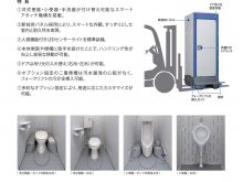 ハマネツ製 屋外仮設トイレ イクストイレ TU-iXシリーズ カタログ
